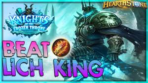 how to beat the lich king mage solo adventure hearthstone