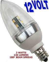 2 or 5 watt 12v low voltage led e12 base candelabra torpedo bulb