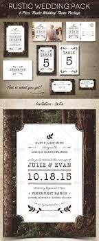 Rustic Wedding Invitation Templates Pack