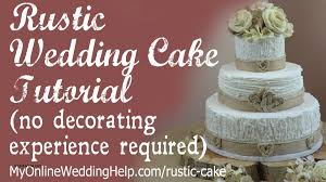 Wedding Decorations How To Decorate A Cake With Royal Icing Fresh Elegant Rustic Tutorial No