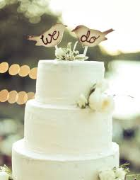 Cake Topper Love Birds Rustic Wedding Decor Item E10046
