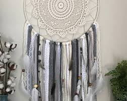 Extra Large Dream Catcher Gray Boho Bedroom