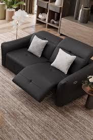 ledersofa schwarz wohnzimmer gemütliches designsofa aus