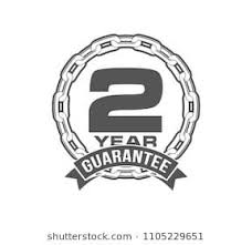 vector illustration two years warranty icon background with
