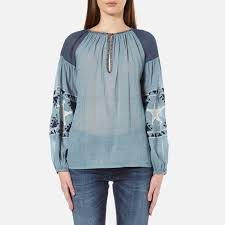 maison scotch women u0027s sheer cotton tunic top with special