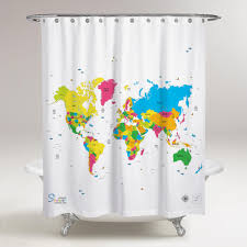 World Map Shower Curtain • Shower Curtains Ideas