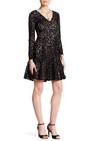 cynthia steffe claire long sleeve v neck lace dress nordstrom rack