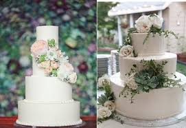Succulents Wedding Cake ViaThe Knot Left And Via Pinterest Right