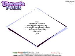 Halloween Acrostic Poem Template by Diamante Poem Template Blank Diamante Poem Frame By Amber Mealey