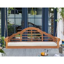 Better Homes And Gardens Patio Swing Cushions by Belham Living Kimbro Lutyens Outdoor Porch Swing With Cushion