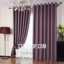 Plum Simple Blackout Heavy And Casual No Pattern Cheap Curtains
