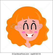 Pretty Blonde Hair Woman Laughing Facial Expression