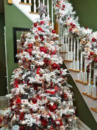 75 Slim Flocked Christmas Tree by 30 Dreamy Flocked Christmas Tree Decoration Ideas Christmas Snow