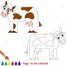 Vache à Colorier Le Livre De Coloriage Pour Les Enfants Dâge