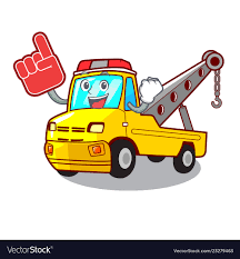 100 Tow Truck Vector Foam Finger Tow Truck For Vehicle Branding Image