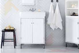 Ikea Bathroom Sinks Ireland by Silverån Hamnviken Wash Basin Cabinet With 2 Doors White 60x45x91