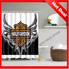 Harley Davidson Bath Decor by Harley Davidson Shower Curtain Valnet Home