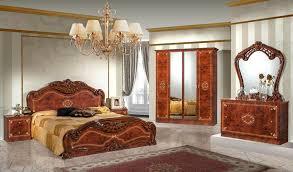 italienisches schlafzimmer möbel komplett in walnuss bett 160x2