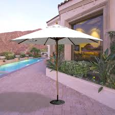 Large Cantilever Patio Umbrella by Galtech Patio Umbrellas And Bases Aluminum Teak And Cantilever