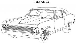 Classic Muscle Car Coloring Pages Pinterest With Regard To Regarding