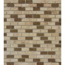 MSI Noche Chiaro Mini Brick 12 in x 12 in x 10 mm Honed