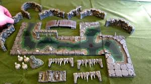 3d Dungeon Tiles Dwarven Forge by In Hd Dwarven Forge Cavernous River And Walls Set Hands On
