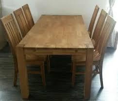 esstisch mit 6 stühle dänisches bettenlager b 89cm l