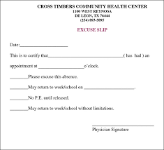 Doctor Excuse Letter for School Doctors Note for Work Template