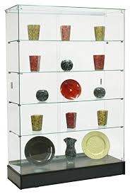 Amazon Coaster Curio Cabinet by Amazon Com Glass Curio Cabinet With 4 Fixed Height Glass Shelves