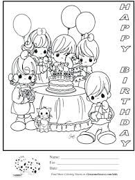 Happy Birthday Coloring Pages Kids Sheets To Print Elmo