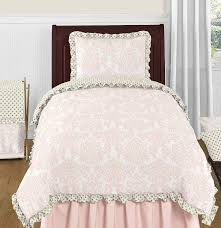 Lush Decor Serena Bedskirt by Amazon Com Blush Pink White Damask And Gold Polka Dot Amelia 4