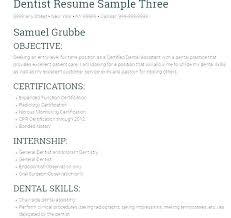 Dentist Resume Dental Hygiene Examples Resumes Samples Sample Download
