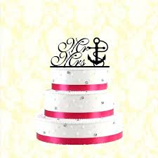 S Wedding Cake Topper Anchor Nautical And Beach With Rope Rustic Funny Toppers Amazon