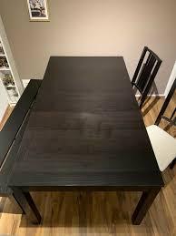 tisch esstisch groß ausziehbar mit 2 stühlen und einer bank
