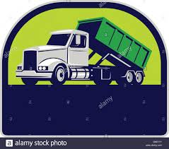 100 Roll Off Dumpster Truck Stock Vector Images Alamy