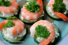 canapé apéritif facile recette amuse bouche crevettes les joyaux de sherazade