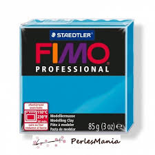 loisirs créatifs 1 pate fimo professional turquoise 85gr ref