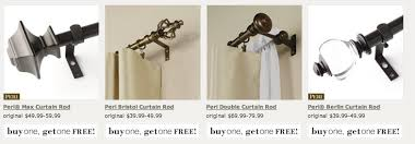Kohls Double Curtain Rods by Great Deals Kohl U0027s Curtains Curtain Rods U0026 Hardware Bogo Free