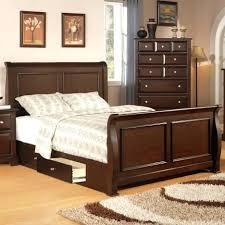 Leather Headboard King Size Bedroom Set Upholstered Bed Frame And