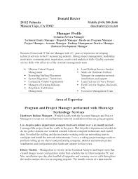 Program Manager Resume Project Skills Lead Format Template Construction Examples 2017