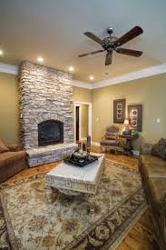 Stone Fireplace Is A Cozy Splace To Relax