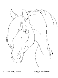 Horse Coloring Pages On Free Head