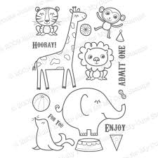 Circus Animal Train Coloring Pages