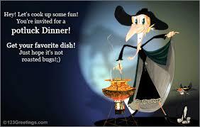 Halloween Potluck Invitation Templates by Potluck Dinner Invitation Cimvitation