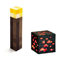 Minecraft Redstone Glowstone Lamp by Redstone Torch Night Light Lamp Kids Boys Room Decor Glowstone Ore