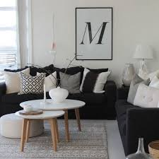 35 top choices of grey black and white living room decor