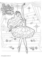 Colouring Pages Of Barbie Coloring Free Printable