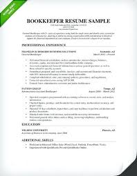 Here Are General Resume Sample Bookkeeper Pdf