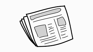 News Paper Line Drawing Illustration Animation With Transparent Background Motion