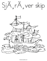 Sjorover Skip Coloring Page